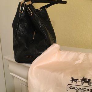 Coach Pebble Leather Phoebe Tote Shoulder Bag